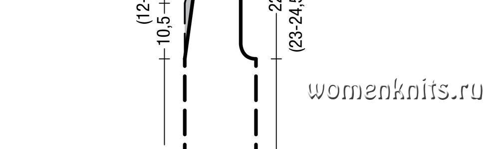 Полосатый топ спицами в резинку