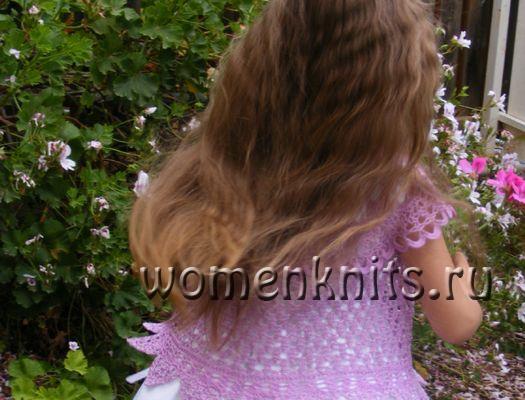 Болеро «Лилах» крючком для девочки