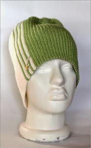 Мужская шапка крючком «Лайм»
