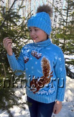 Детские свитера спицами