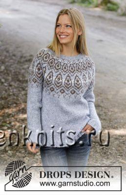 Пуловер спицами «Зимнее сердце»