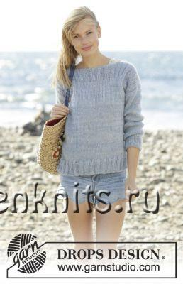 Пуловер спицами Bente
