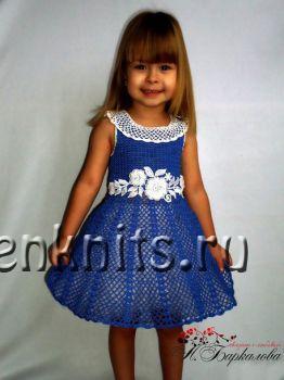 Платье для девочки крючком «Очарование»