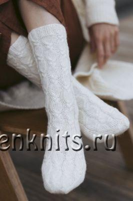 Узор для красивых носочков спицами