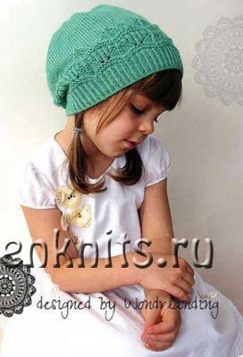 Шапка для девочки спицами «Nara Hat»