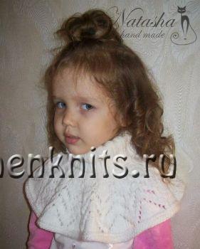 Детская манишка спицами от Наташи