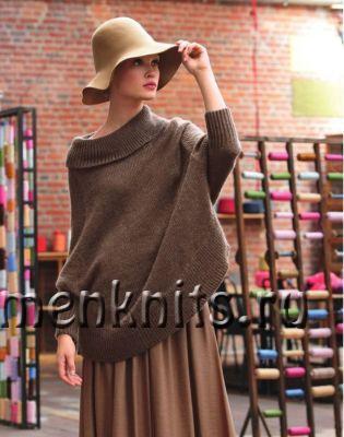 Пуловер спицами в стиле с оверсайз