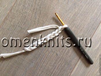 Вяжем тапочки из льна мастер-класс