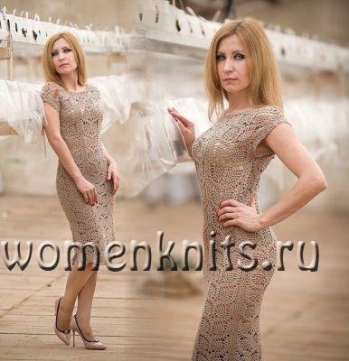 Красивое платье крючком