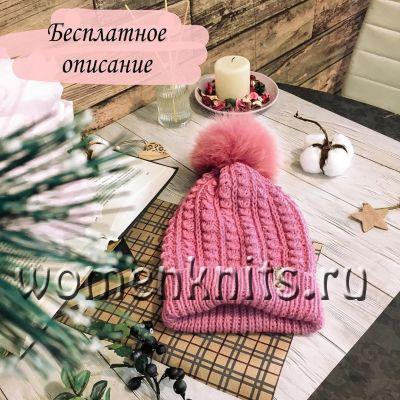 Шапка спицами от mashka_pugacheva