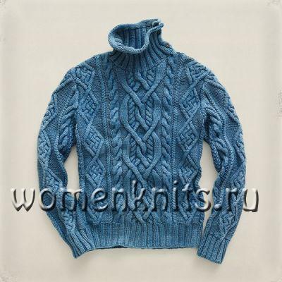 Мужской свитер спицами для любимого