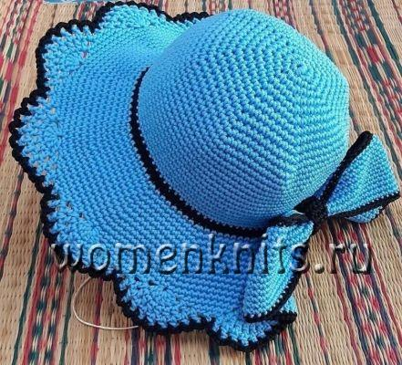 Моднаяя шляпа крючком