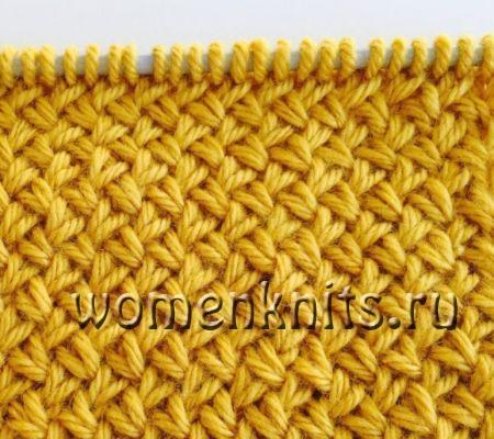 Быстрое вязание узором «Плетёнка» спицами