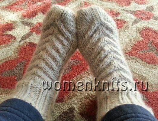 Носки-тапочки «Baronial» спицами