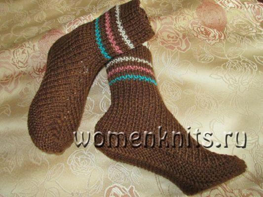 Носки на двух спицах от Надежды Токаренко