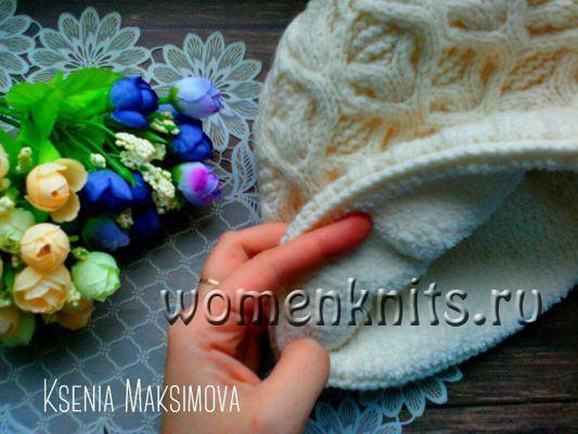 Шапочка спицами от Ксении Максимовой
