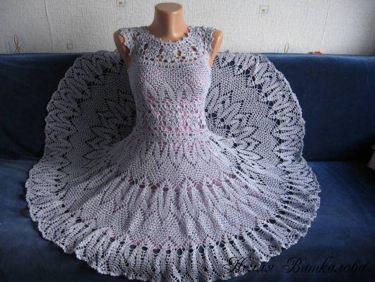 Прекрасное платье крючком