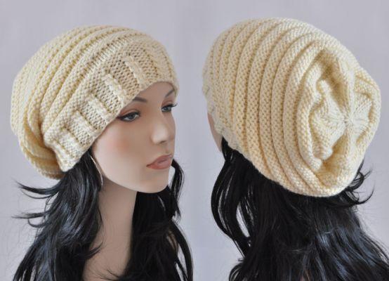 Вязание шапки-чулок спицами