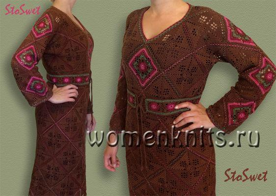 Ажурное платье крючком от StoSwet