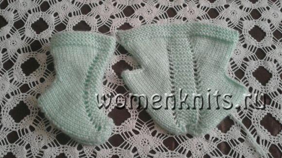 Детские турецкие носочки спицами