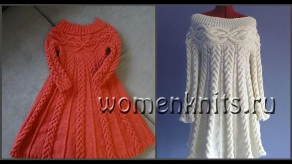 Вяжем платье спицами — Шамони