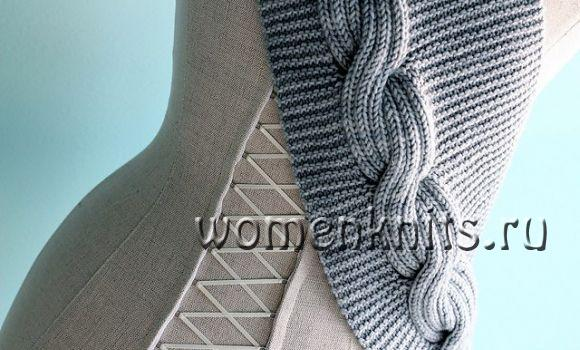 Как свзать шарф снуд