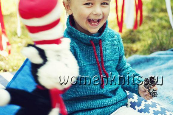 Детский пуловер «Thingamajigger» спицами
